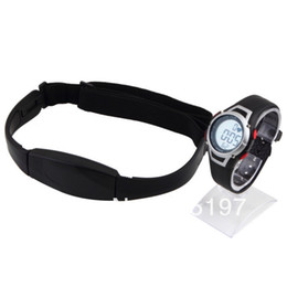 Wholesale Exercise Belt For Free - Wholesale-Latex-free flex chest belt waterproof watch heart rate monitor for personal exercise training