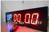 Wholesale Led Digital Count Up - Wholesale-New Design GYM Digital Clock Multiful Countdown, Count up LED Extra Big Clock
