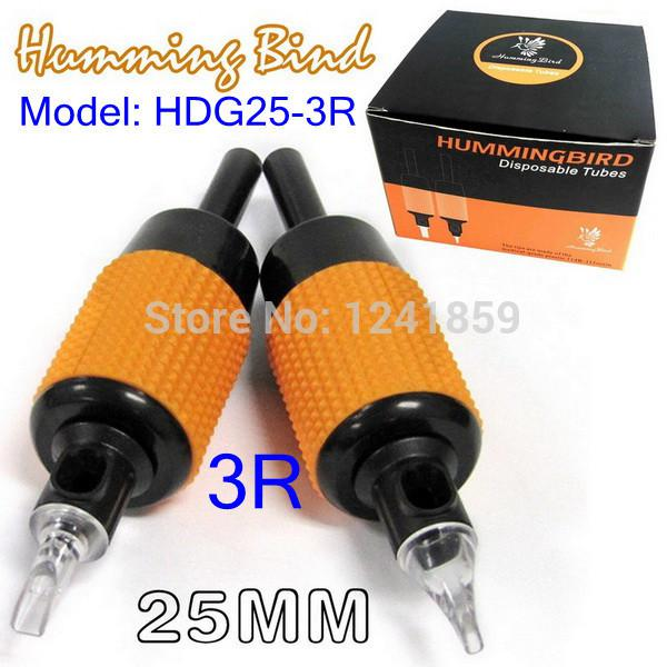 Wholesale-Free Shipping 20pcs Humming Bird Disposable Grip Tube Round 3 Supply HDG25-3R#