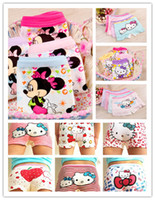 Wholesale Girls Underware - Wholesale-12pcs lot girl underwear panties girls boxer hello kitty hot sale children short pants wholesale cotton underware cartoon 212