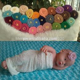Wholesale Stretch Knit Wrap Newborn - Wholesale-5pcs Newborn Baby Stretch Knit Rayon Wrap Photo Props 40cm x 80cm