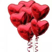 corazón rojo globos boda al por mayor-Al por mayor-50PCS / lot 18
