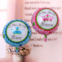 Wholesale Little Princess Baby One Piece - Wholesale-one piece festa new little princess baby shower prince crown foil balloons boy girl balls birthday party decoration globos party