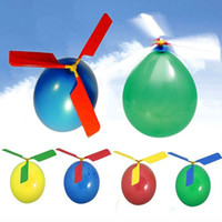 Wholesale Balloon Filler - Wholesale-New Balloon Helicopter Flying Toy Kids Boys Girl Xmas Gift Christmas Stocking Filler Color Random