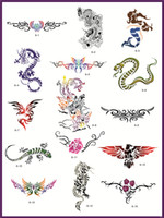 Wholesale Super Big Size Designs Body art Temporary Airbrush Tattoo Stencil Template Book