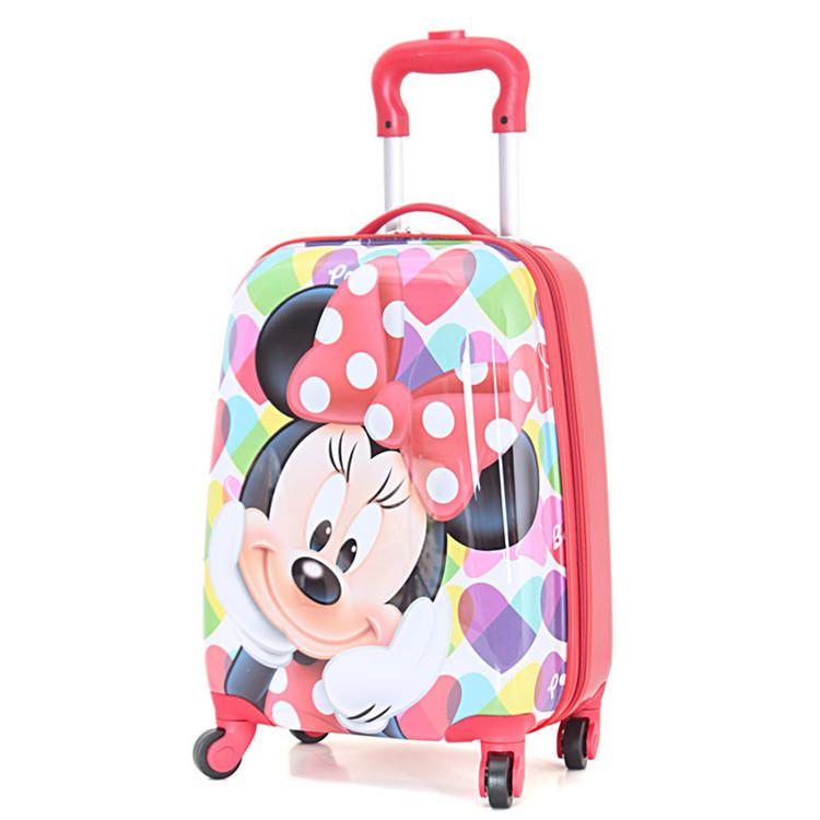 Wholesale Girls Minnie Mouse Rolling Luggage/Children Cartoon ...