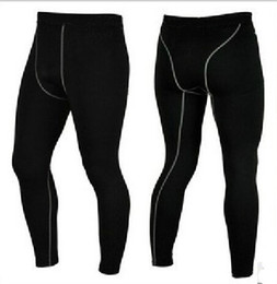 Wholesale Wholesale Combat Trousers - Wholesale-2015 Men New combat tights,pro gear breathable brand sports long pants,athletic bodybuilding fitness compression trousers