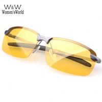 gafas de hombre polarizadas amarillas al por mayor-Al por mayor-Gafas de deporte Hombres gafas de sol de conducción polarizadas Lense de visión nocturna Lentes de conducción Gafas Polaroid Reduce Glare SV1419865