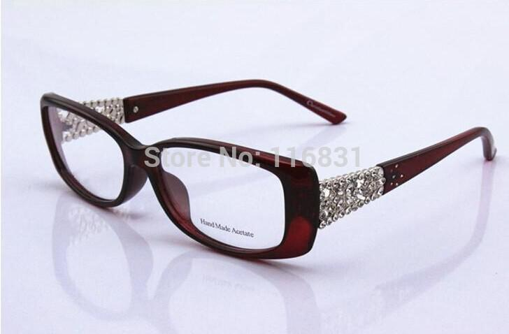 78155ad4e30 2019 Wholesale 2015 Rhinestone Glasses Cd3184 Myopia Eyeglasses Frame  Women S Ultra Light Tr90 Full Frame Plain Glass Spectacles Frame From  Goodlines