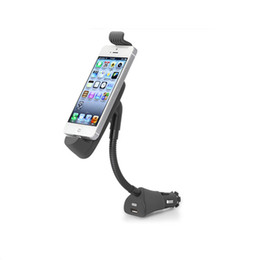 2019 iphone 5s carro carregador titular Atacado-Car isqueiro Mount Holder Adaptador USB para iPhone 6 4.7