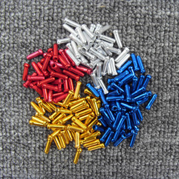 Wholesale Mountain Bike Disc - Wholesale- aluminum alloy bike core wire end caps tips mtb road mountain bicycle brake & derailleur shift inner cable end caps