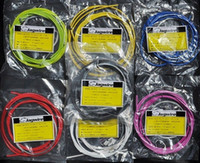 Wholesale Shifter Road - Wholesale-2015 MTB Road Bicycle Bike Derailleur Brake Hose Cable Set Kit Brake Transmission Shifter Wire with Multi Colors