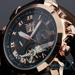 Wholesale Jaragar Luxury Auto Mechanical Watches - Wholesale-JARAGAR Fashion Brand Wristwatches Man Auto Mechanical Date  Mens Wrist Watch +Gift Gox Free Ship