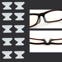 Wholesale Silicone Eyewear Glasses Nose Pads - Wholesale-5 Pairs soft stick on Nose Pads Eyeglass sunglass glass glasses frame silicone eyewear good quality#ZH215