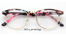 Discount vintage metal glasses frames - Wholesale-2015 New Retro Tide joker Men Women glasses unisex Clear Lens Nerd Frames Glasses Fashion brand design Vintage