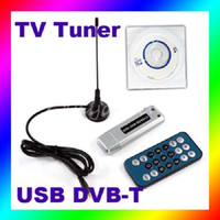 Wholesale Tv Recorder For Pc - Wholesale-Mini Digital USB2.0 DVD CD TV DVB-T Dongle HDTV PC Tuner Recorder Receiver for Windows 2000 XP Vista Win7. USB2.0 Interface