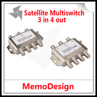 All'ingrosso-3x4 DiSEqC satellitare multiswitch FTA TV LNB switch satellitare Cascade 3 a 4 multiswitch 2 LNB 1 TERR IN Per il DVB-S2 e DVB-T2