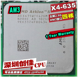 Wholesale Amd Athlon Ii X4 Am3 - Wholesale-shipping free Amd ii Athlon x4 635 quad-core scattered pieces cpu am3 2.9G 2M cpu quad-core processor