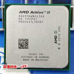 Wholesale Amd Athlon Ii X4 Cpu - Wholesale-Free shipping For Amd ii Athlon x4 651 quad-core scattered pieces cpu fm1 3.0G 4M cpu quad-core processor scrattered pieces