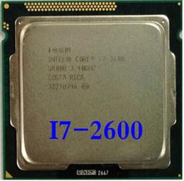 Wholesale Intel Cpu 1155 - Wholesale-Original Processor desktop motherboard for intel Core quad core i7 2600 i7-2600 3.4Ghz 8M  LGA 1155 CPU free shipping