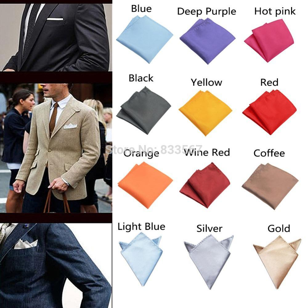 b498d35741528 2019 Wholesale Fashion Chic Mens Silk Satin Pocket Square Hankerchief Hanky Plain  Solid Color H5045 P From Bradle, $22.04 | DHgate.Com