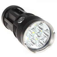 De alta potencia mayor-Securitylng 9000 Lumen 6 x CREE XML T6 LED Linterna antorcha impermeable Autodefensa 3 Modo 18650 Luz LED Flash