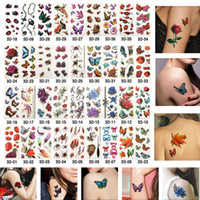 Wholesale-stili 3D glitter metal temporanei Flash Tatuaggi Fiori di falsificazione impermeabile Body Art manica fai da te Adesivi di Halloween Ispirato 190 * 90MM