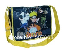 Wholesale-20 / Lot di <b>nylon Naruto</b> scuola a tracolla laterale