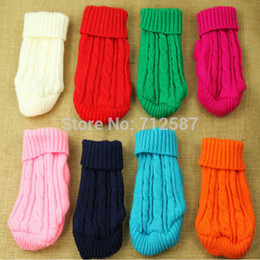 Wholesale Bows For Dogs - Wholesale-Delicate 2015 Pet Dog Cat Clothes Winter Warm Knitwear Sweater for Dogs Hot Selling