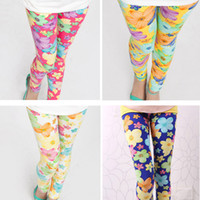 "Wholesale Wholesale High Profit - Wholesale-""0"" profit Only Earn Reputation free shipping high quality 1pc retail 2-7 years girl legging flower colors for option"