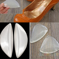 Wholesale Cushion Wood - Wholesale-Silicone Gel Arch Support Shoe Inserts Foot Insole Wedge Cushion Pads Pain 05U3
