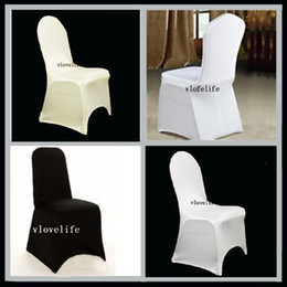 Wholesale Nylons Spandex Chair Covers - Wholesale-1 New Spandex Lycra Chair Cover For Wedding Party Event Banquet Cover Top Quality Stretch Chair Cover