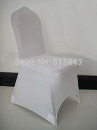 Wholesale Discount Spandex Chair - Wholesale-Free Shipping 100pcs Big Discount White Stretch Spandex Lycra Banquet Chair Cover Wedding Chair Cover