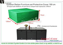 "Wholesale Beach Chair Furniture - Wholesale-Rattan furniture set Protective cover 190cm 74.8"",6 chairs&4 footstools cover Free shipping"