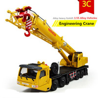Wholesale Crane Ship - Wholesale-2015 Hot sale ! 1 : 55 alloy Sliding construction crane model Toys, children's educational toys, free shipping