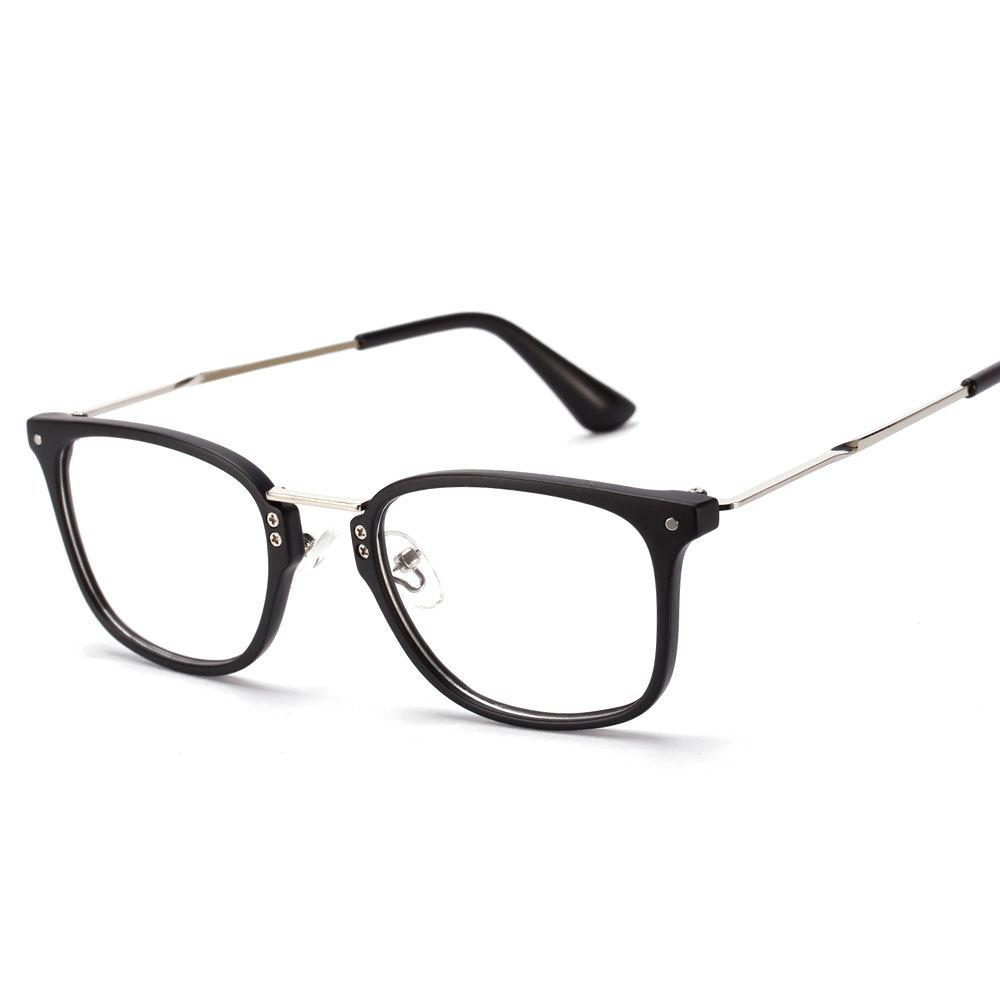 672bf94e9883 2019 Wholesale NEW Korean Rivets Eyes Glasses Optical Frames Woman Brand  Metal Gold Rectangle Myopia Spectacles Men UV400 Matte Black Green From  Gwyseller