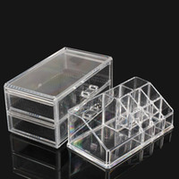 Wholesale Drawer Organizer Acrylic Box - Wholesale-Acrylic Cosmetic Organizer Drawer Makeup Case Storage Insert Holder Box #NVP