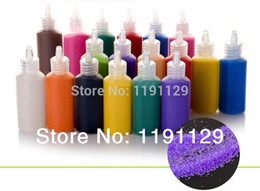 Wholesale Wholsale Material - Wholesale-12 bottles color sand for sand painting sand art different colors sand mixed for educational toys materials big stock wholsale
