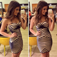 Wholesale Sexy Ladies Stripping - Wholesale-New Arrival Summer Bandage Dress for Sexy Hot Women Ladies Strip Vestidos Femininos bodycon vestidos lace evening party J2318