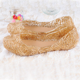 Wholesale Jelly Shoes Rhinestones - Wholesale- Fashion New Women Sexy Melissa jelly Shoes Sandals Summer Slippers Rhinestone Shoes Solid Sandals Sandalias Femininas