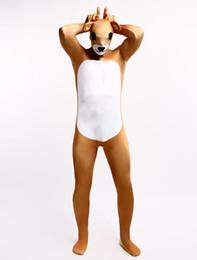Wholesale Bear Men Costume - Wholesale-Bear Lycra Spandex Zentai Suit