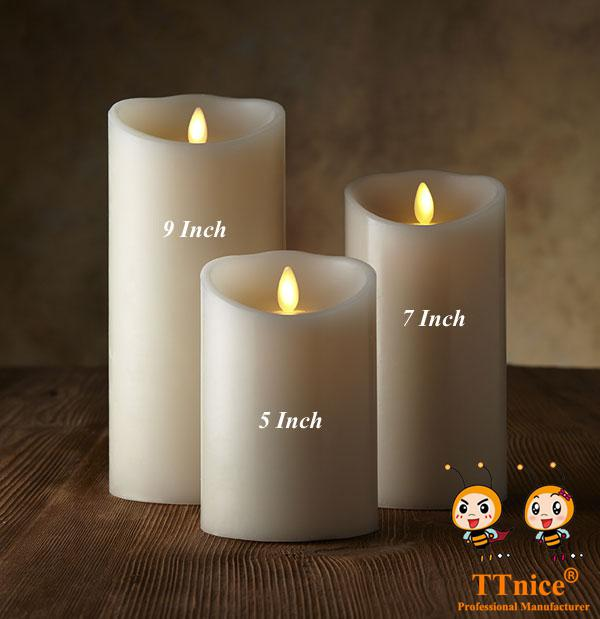 Wholesale-3pcs/set NEW Luminara Remote Flameless Candles for Your Smart Home and Smart Linghting