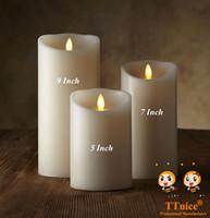 nouvelles bougies achat en gros de-Gros-3pcs / set NOUVELLES Bougies sans flamme à distance Luminara pour votre maison intelligente et intelligente Linghting