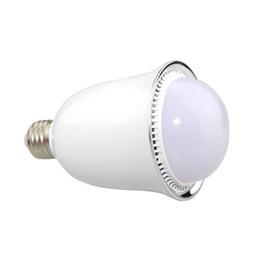 Wholesale Music Light Pad - Wholesale-Foxanon Led Smart Bluetooth Speaker lights Music Fantastic 5050 RGB Colors E27 100-240V 5W lampada led Lamp For SmartPhone Pad