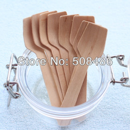Wholesale Piece Flatware - Wholesale-100 Pieces Wooden Flatware | Disposable Wood Square Spoon for Picnic Party Catering