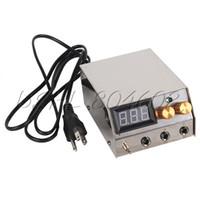 Wholesale Tattoo Ac Power - Wholesale-Dual Digital LCD Tattoo Power Supply Power Cord Cable AC 60V-250V US Plug