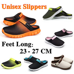 Wholesale Hunter Sports - Wholesale-2015 Summer New Men Slippers Shoes Casual Shoes Mesh Breathable Sandals Unisex Couples Sport Flat Beach Slippers Sandals #G0008