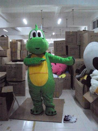 Wholesale Animal Mascot Adult Suit - Wholesale-Professional animals green Dinosaur dragon monster mascot Fancy Dress Costume Adult Size EPE Suit mascot costume