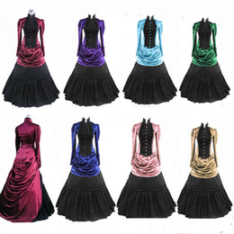 Wholesale Gothic Victorian Lolita Dresses - Wholesale-Free Shipping Party Gothic Victorian Halloween Lolita Dress for Adult Women All Size Customized