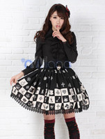 Wholesale Dandy S - Wholesale-Free shipping! Newest! High - quality! Dandy Black Lace Polyester Lolita Skirt